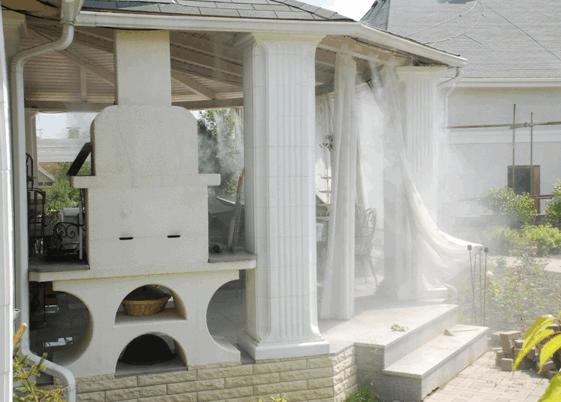 Система туманообразования для охлаждения открытой веранды в пос. «Княжье озеро»
