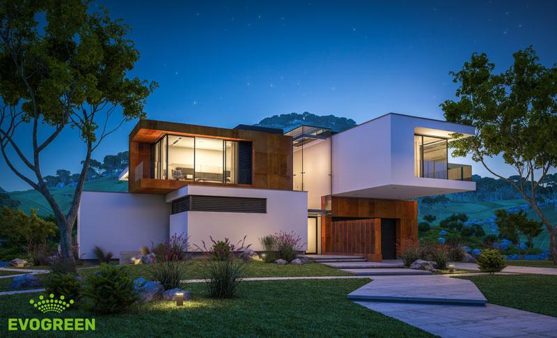Ландшафтное, архитектурное освещение, Коттедж г.Сочи