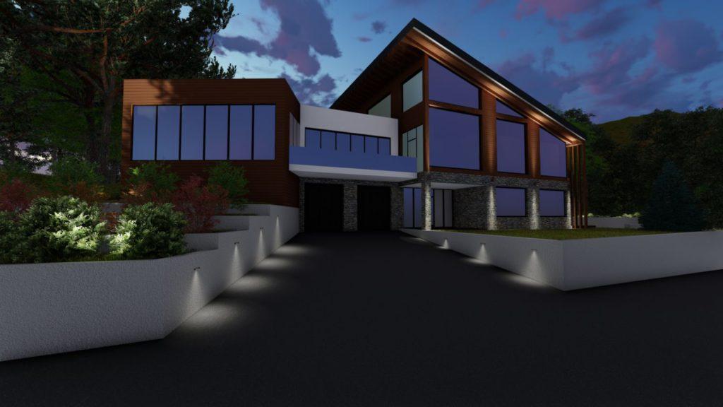 Визуализация освещения Гольф-клуб